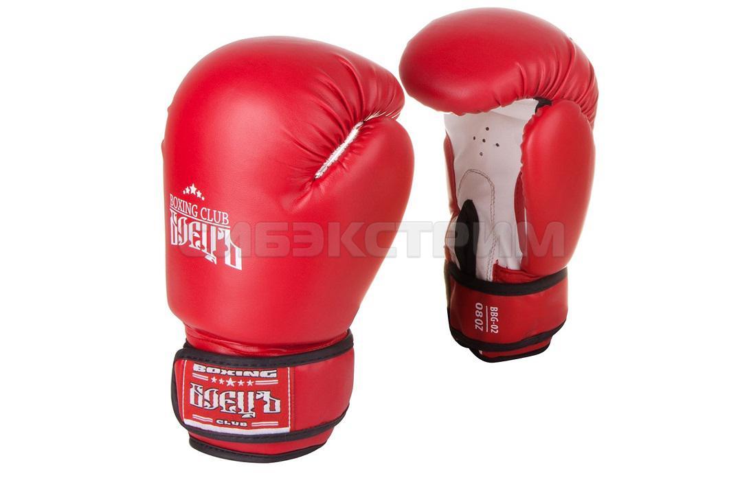 Перчатки боксерские Боецъ BBG-02, иск.кожа, red