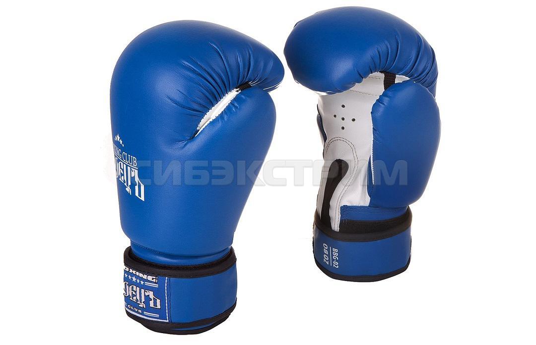 Перчатки боксерские Боецъ BBG-02, иск.кожа, blue