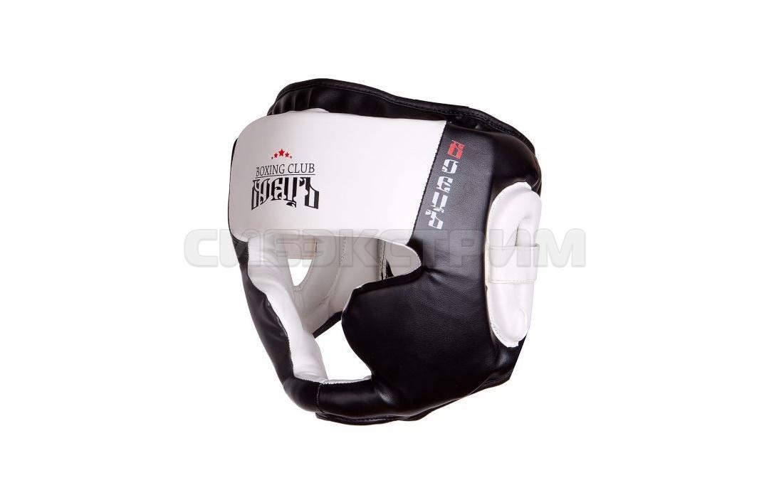 Шлем боксерский Альфа Каприз BHG-23 чёрно-белый
