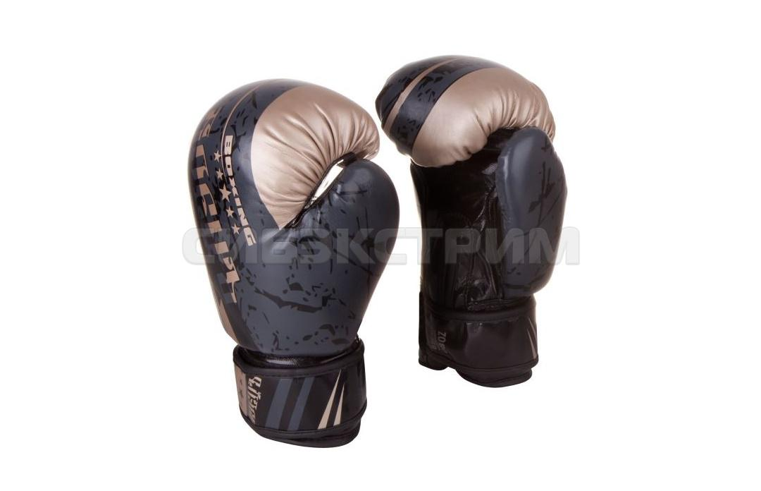 Перчатки боксерские Боецъ BBG-03 иск.кожа, черные