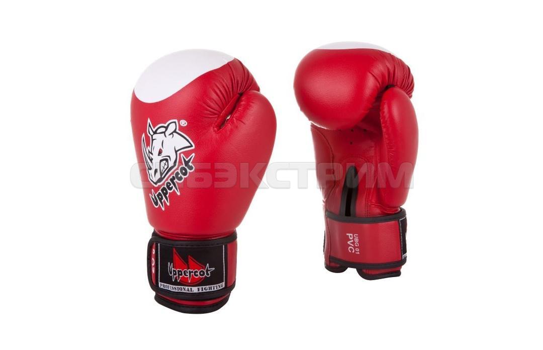 Боксерские перчатки UBG-01 PVC иск.кожа Red