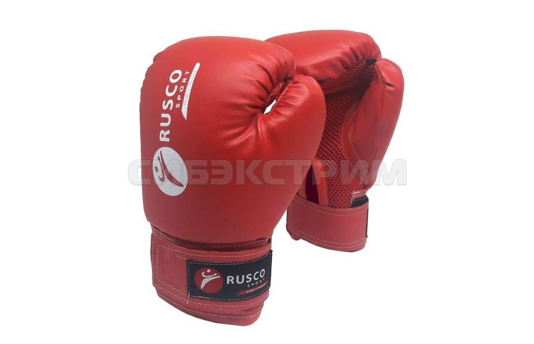 Перчатки боксерские RUSCO SPORT кож.зам. красные
