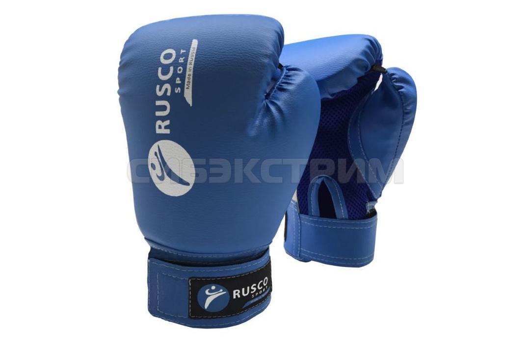 Перчатки боксерские RUSCO SPORT кож.зам. синие