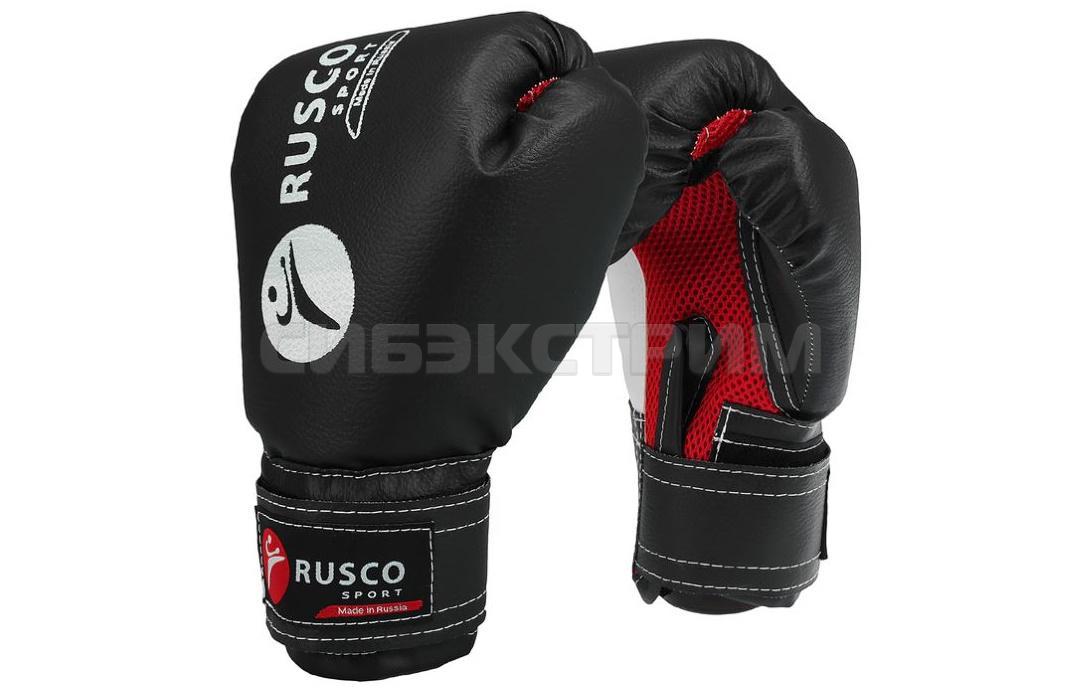 Перчатки боксерские RUSCO SPORT кож.зам. черный