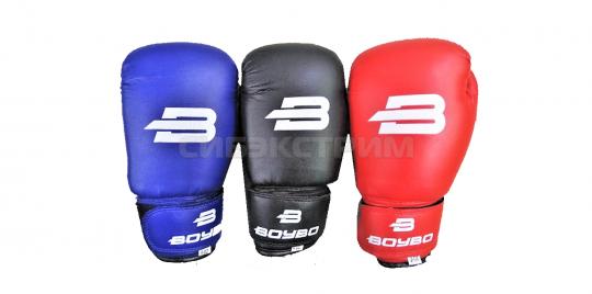Перчатки боксерские BoyBo кож.зам. черные