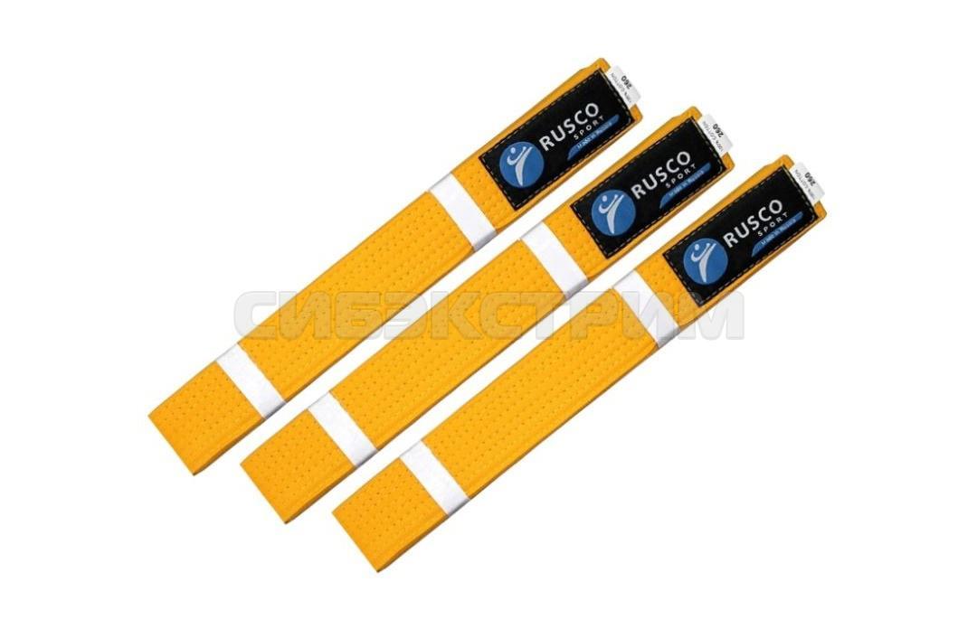 Пояс для единоборств RUSCO SPORT желтый