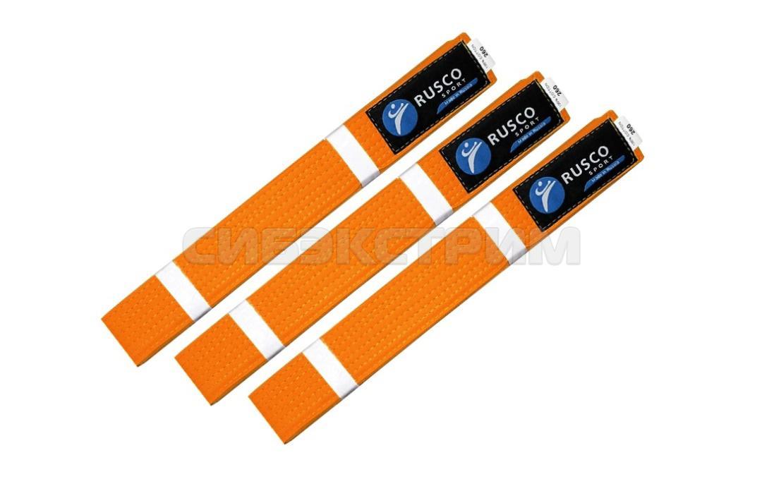 Пояс для единоборств RUSCO SPORT оранжевый