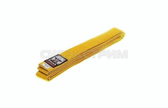 Пояс для единоборств BCU-75 желтый