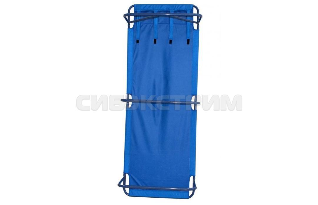 Раскладушка Тишь П1 200х75х38 см. цвет синий в чехле