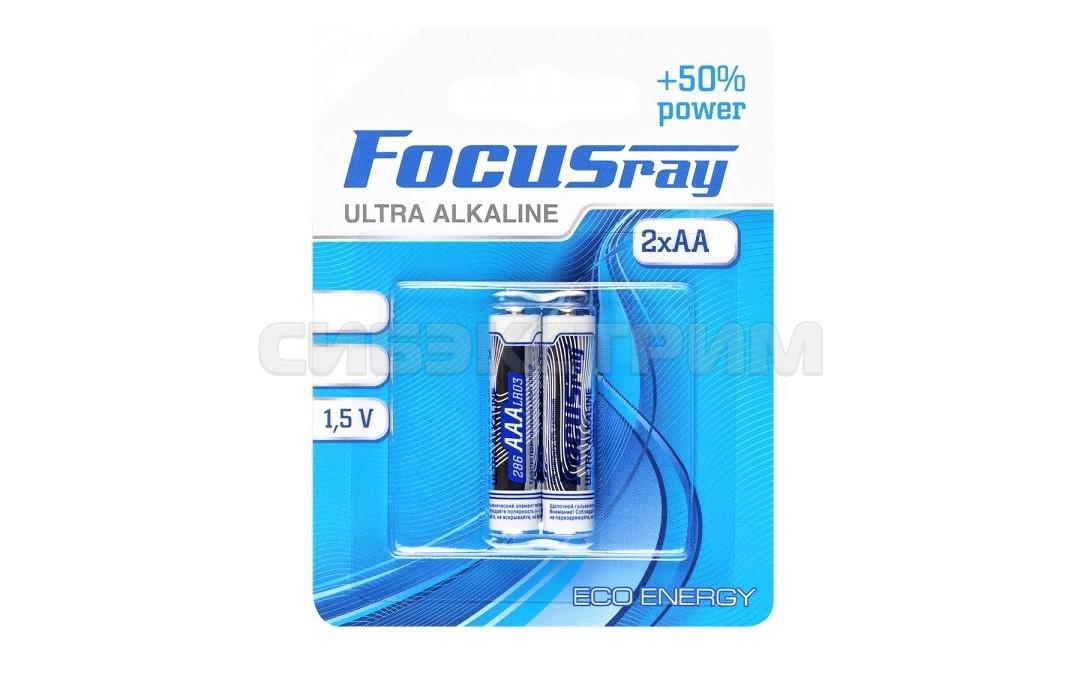 Батарейка АА FOCUSray LR6 BL2 ULTRA ALKALINE 2шт.