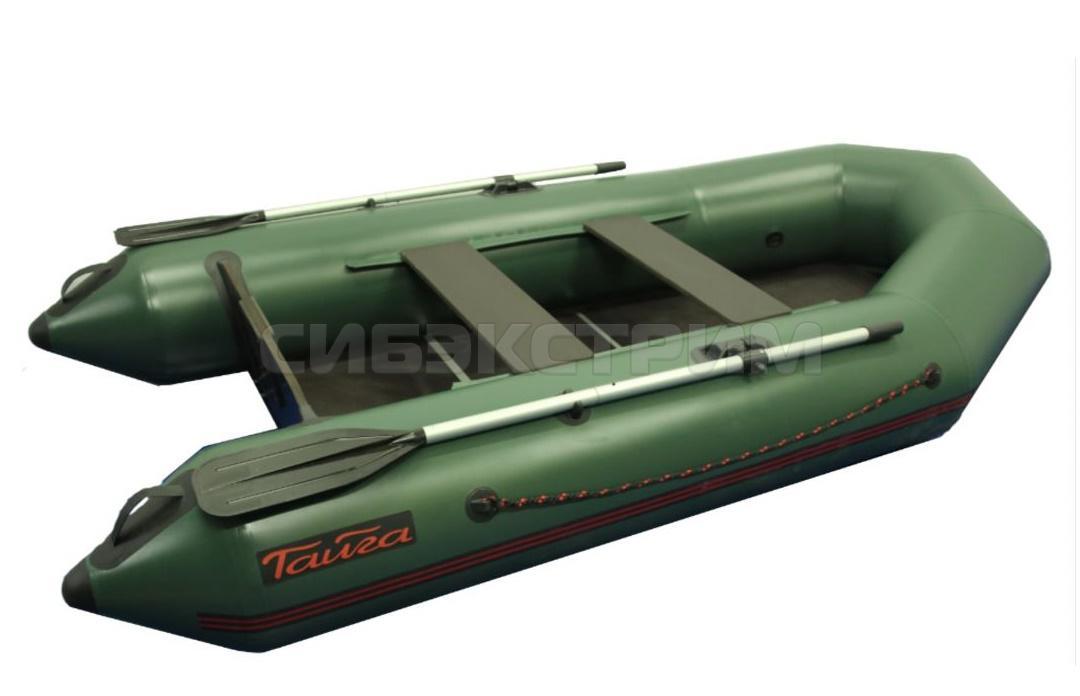 Лодка ПВХ Тайга-290 новая серия цвет зеленый