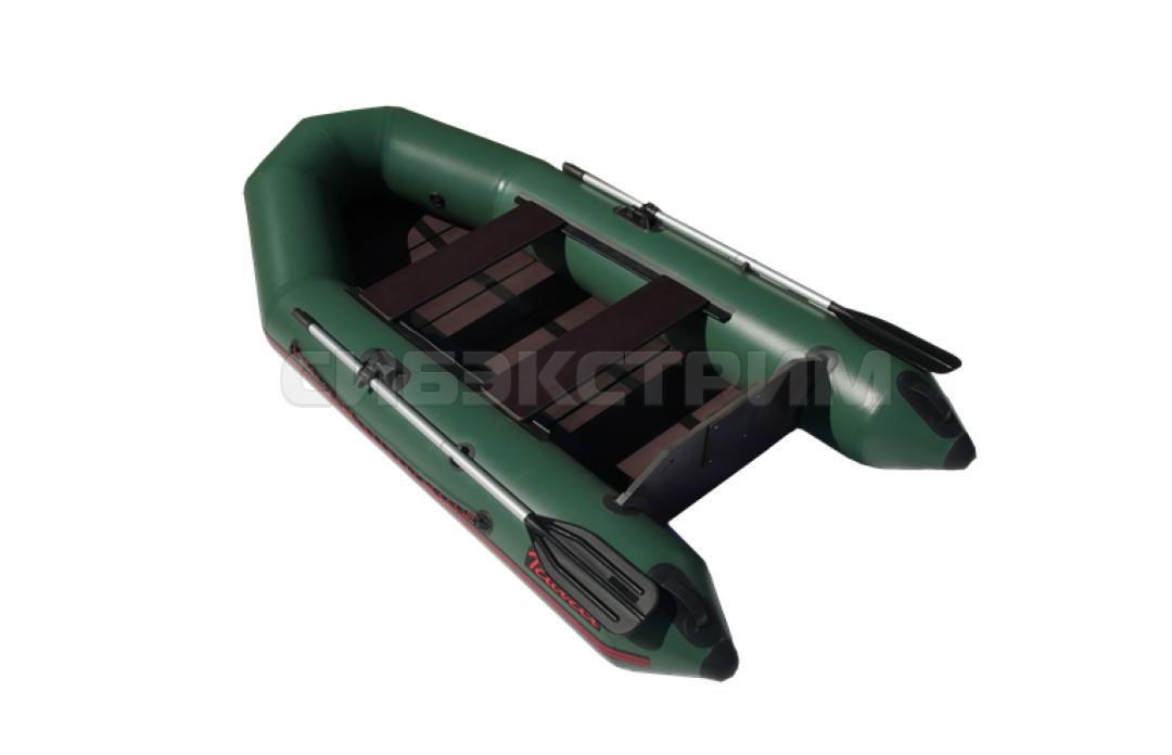 Лодка ПВХ Тайга-290Р  реечный настил цвет зеленый
