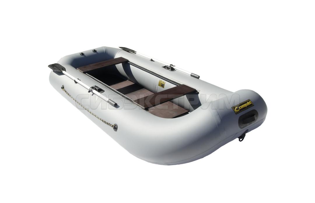 Лодка ПВХ Компакт-290 гребная цвет серый