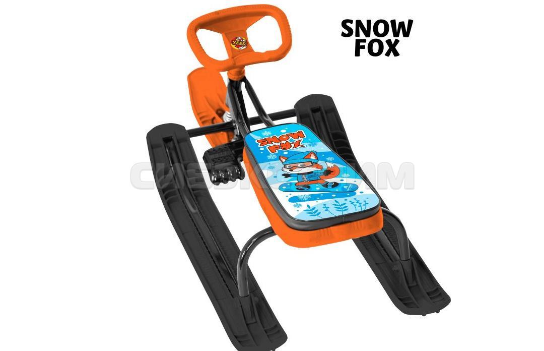 Снегокат ТЯНИ-ТОЛКАЙ+100 с удлиненым сидением Snow fox