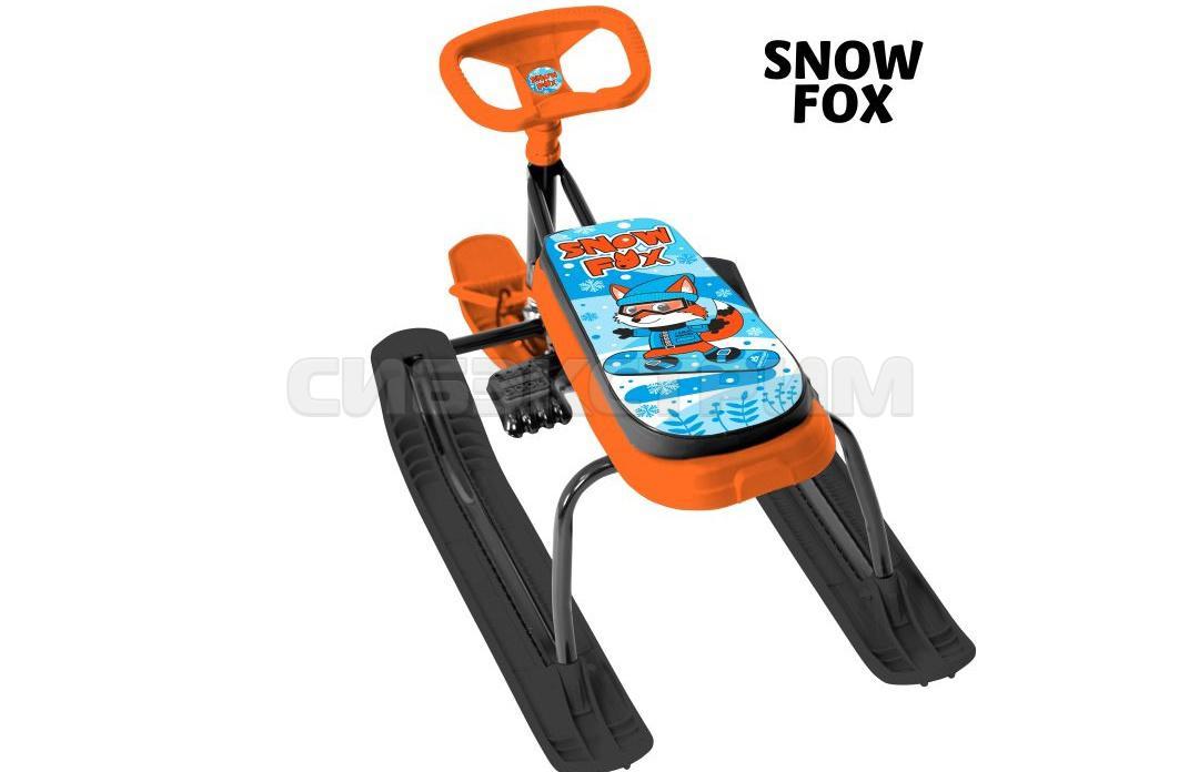 Снегокат ТЯНИ-ТОЛКАЙ+100 с удлиненным сидением с рулеткой Snow fox