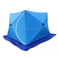 Палатка рыбака Стэк КУБ 2 трехслойная LONG дышащая