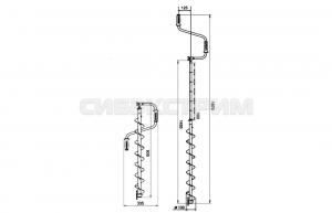 Ледобур Тонар Торнадо-М2 100мм левое вращение, без чехла