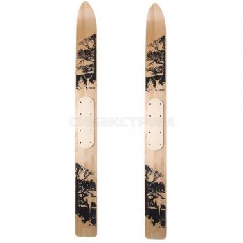 Лыжи промысловые DEER деревянные 145 см, лак