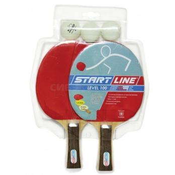 Набор для настольного тенниса Start Line 2 ракетки Level 100 3 мяча