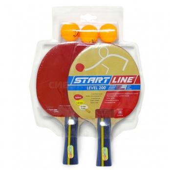 Набор для настольного тенниса Start Line 2 ракетки Level 200 3 мяча