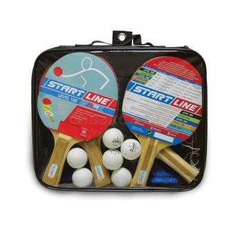 Набор для настольного тенниса Start Line 4 ракетки Level 100 6 мячей, сетка