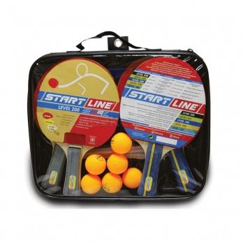 Набор для настольного тенниса Start Line 4 ракетки Level 200 6 мячей, сетка