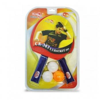 Набор для настольного тенниса Start Line Double Fish 2 ракетки, 3 мяча