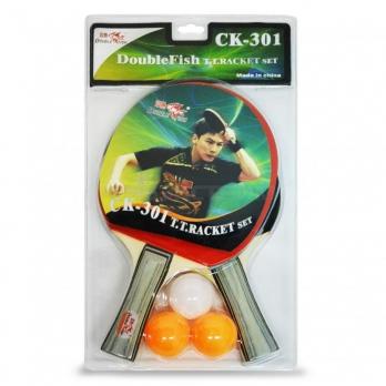 Набор для настольного тенниса Start Line Double Fish 2 ракетки, 3 мяча ск-301
