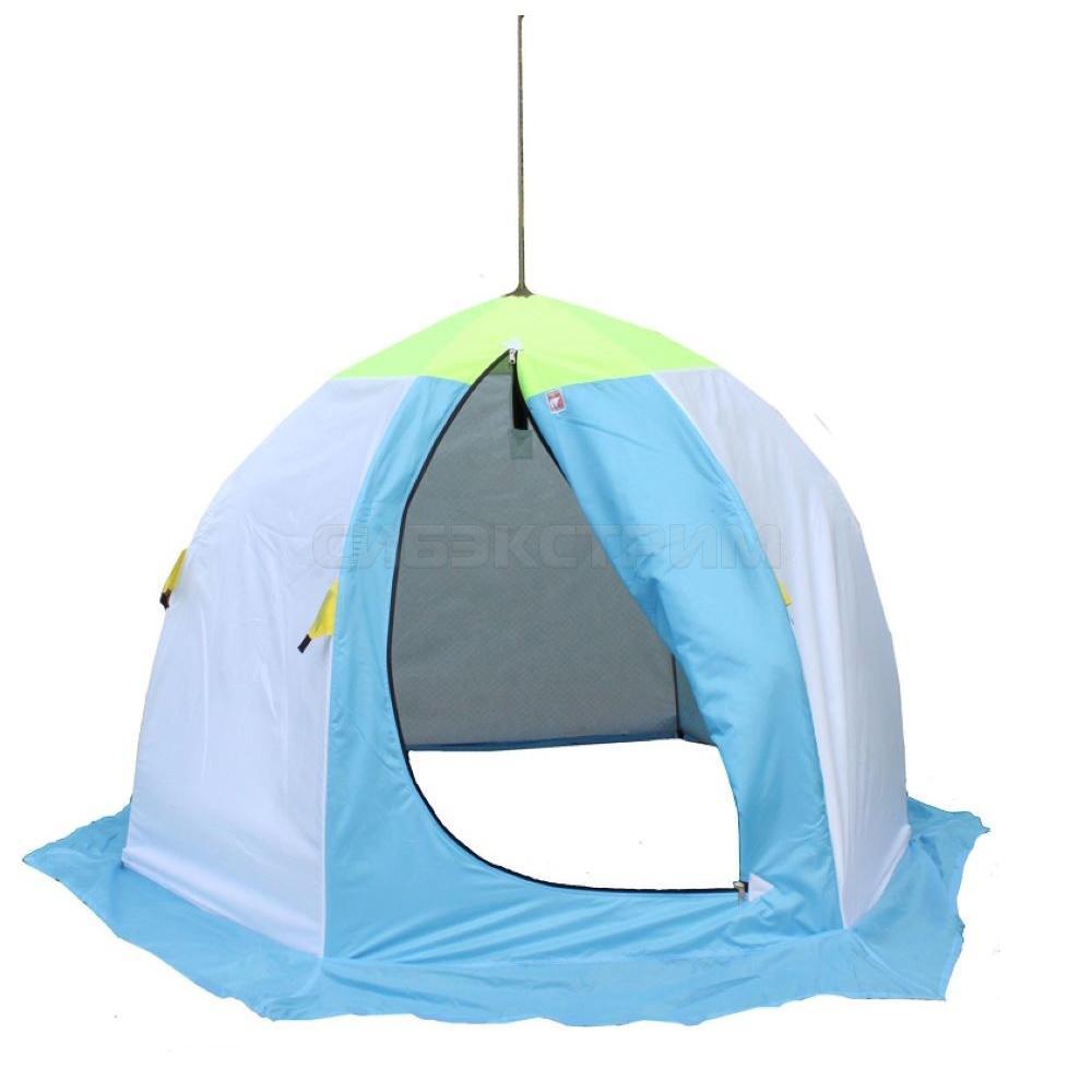 Палатка зонт зимняя МЕДВЕДЬ 2-местная,утепленная, дышащая, 6-лучей