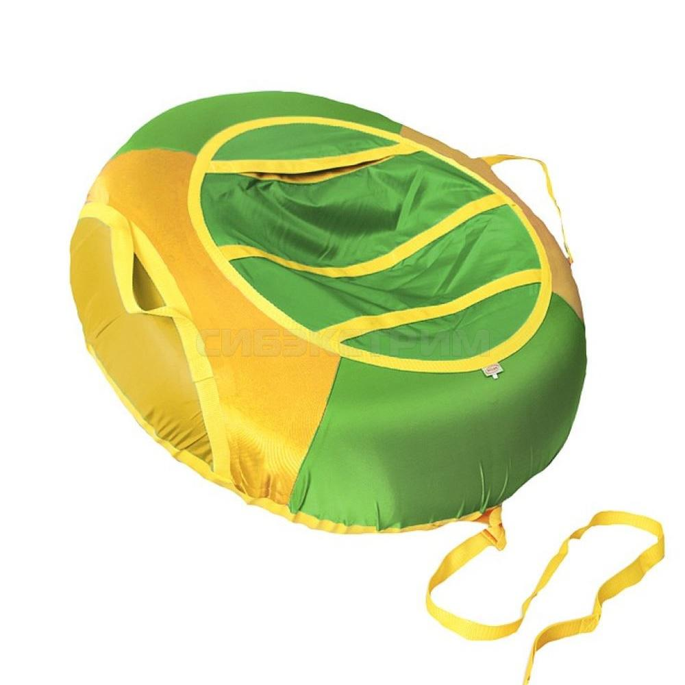 Сноутьюб BELON серия ЭКОНОМ 85 см, зелено-желтый
