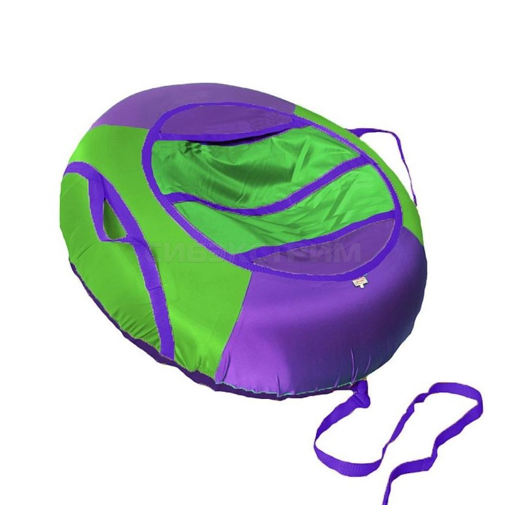 Сноутьюб BELON серия ЭКОНОМ 85 см, фиолетово-зеленый