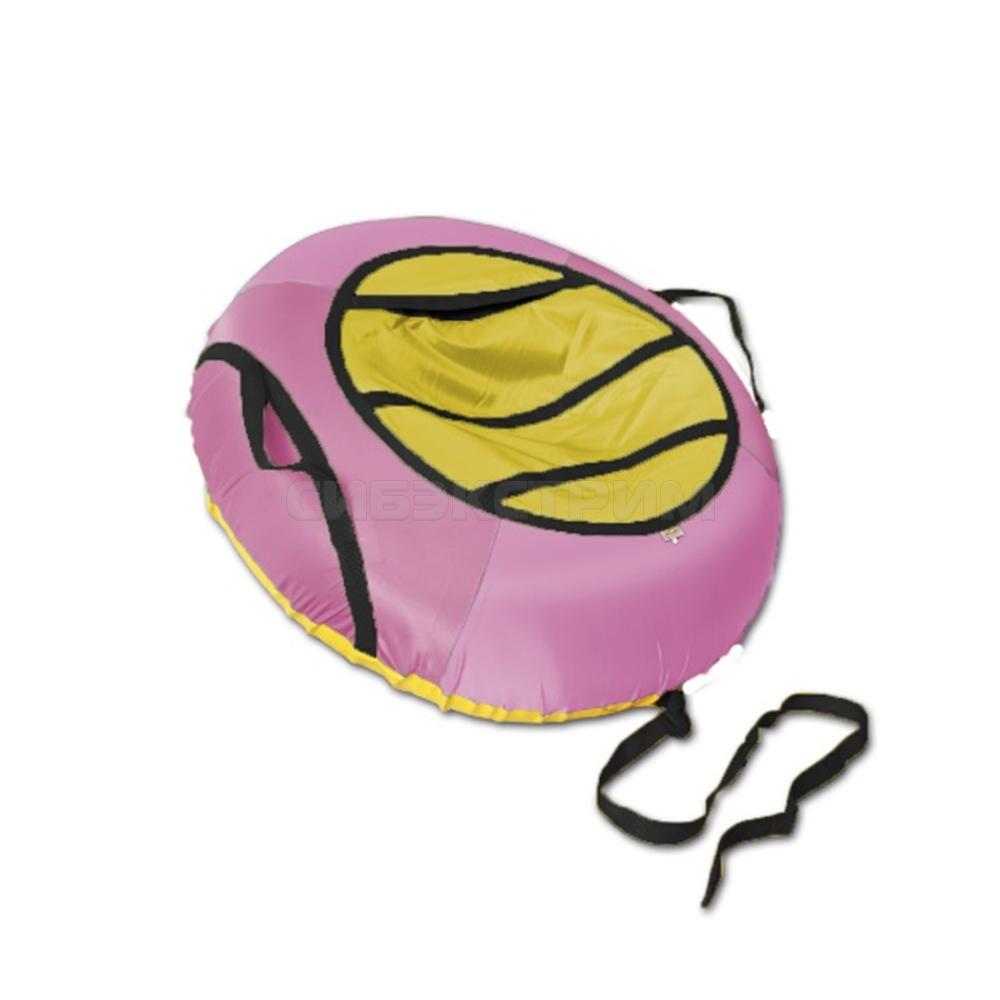 Сноутьюб BELON серия ЭКОНОМ 100 см, розово-желтый