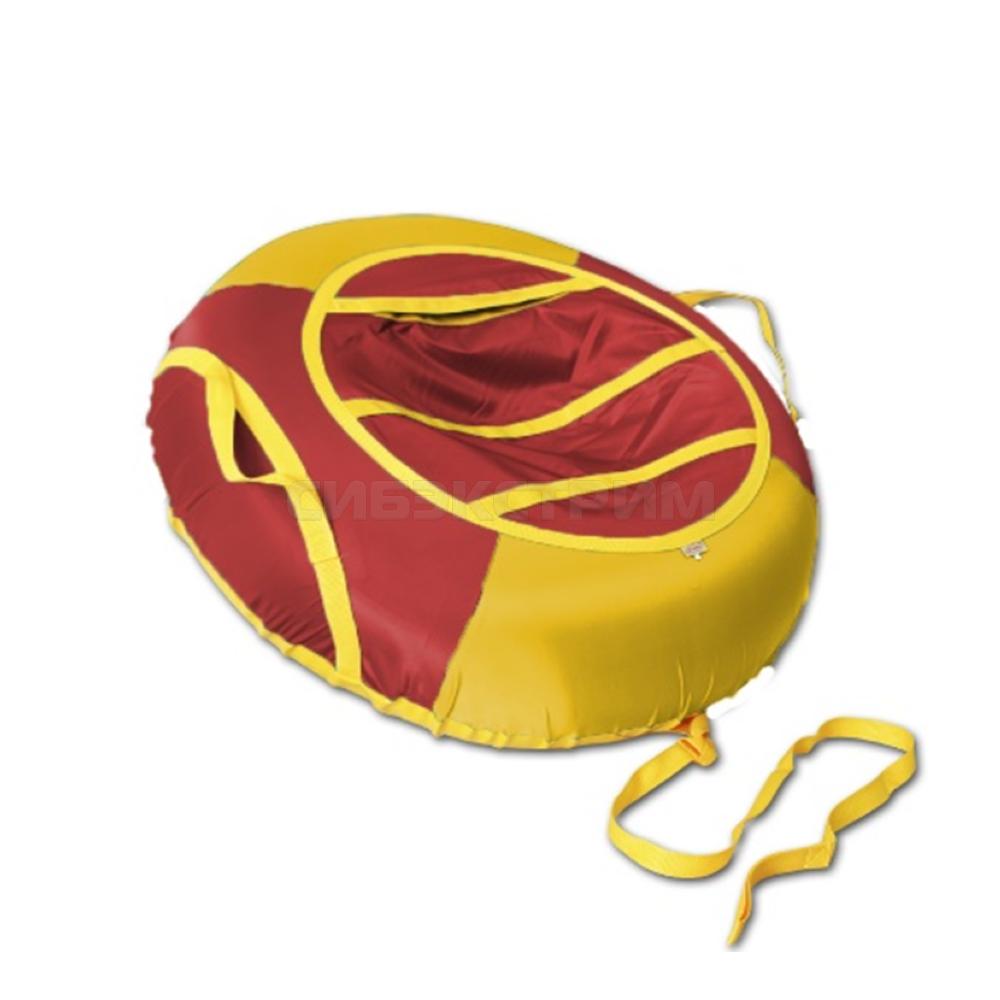 Сноутьюб BELON серия ЭКОНОМ 85 см, желто-красный