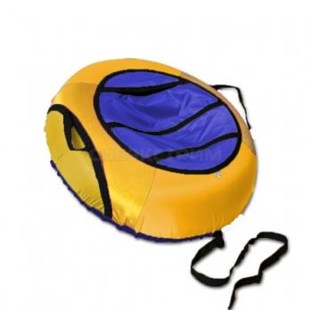 Сноутьюб BELON серия ЭКОНОМ 85 см, желто-синий