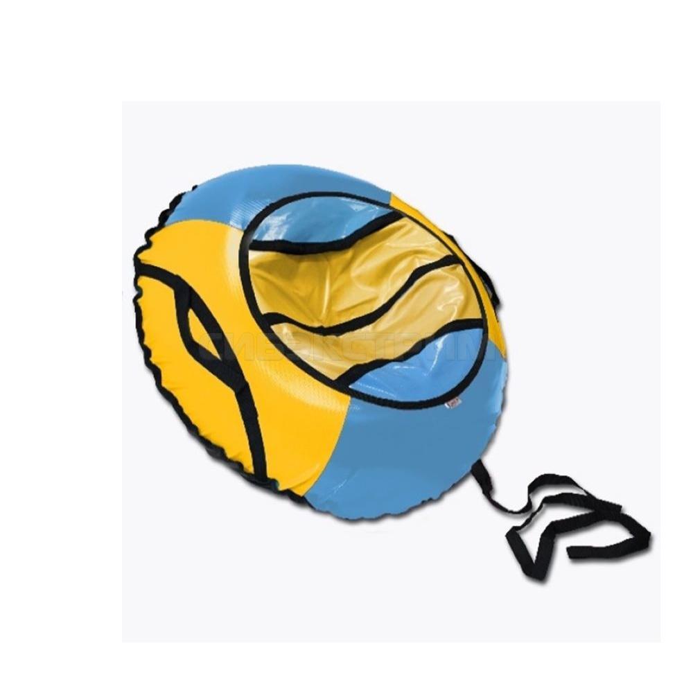 Сноутьюб BELON серия СПОРТ 85 см, голубой-желтый