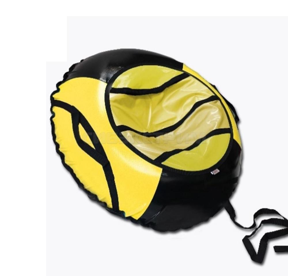 Сноутьюб BELON серия СПОРТ 100 см, черно-желтый