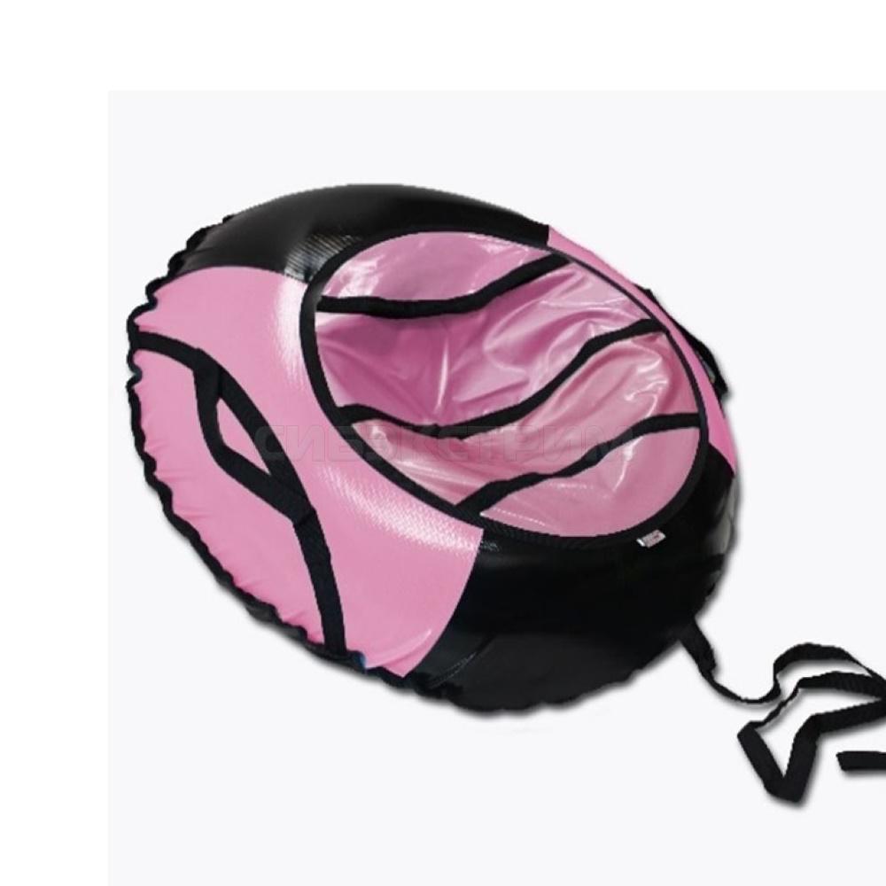 Сноутьюб BELON серия СПОРТ 100 см, черно-розовый