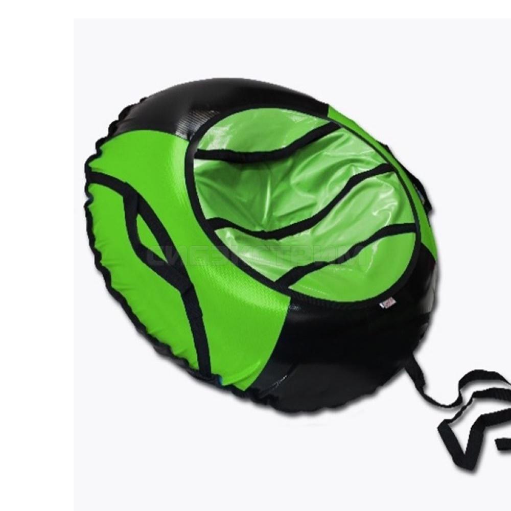 Сноутьюб BELON серия СПОРТ 120 см, черно-зеленый