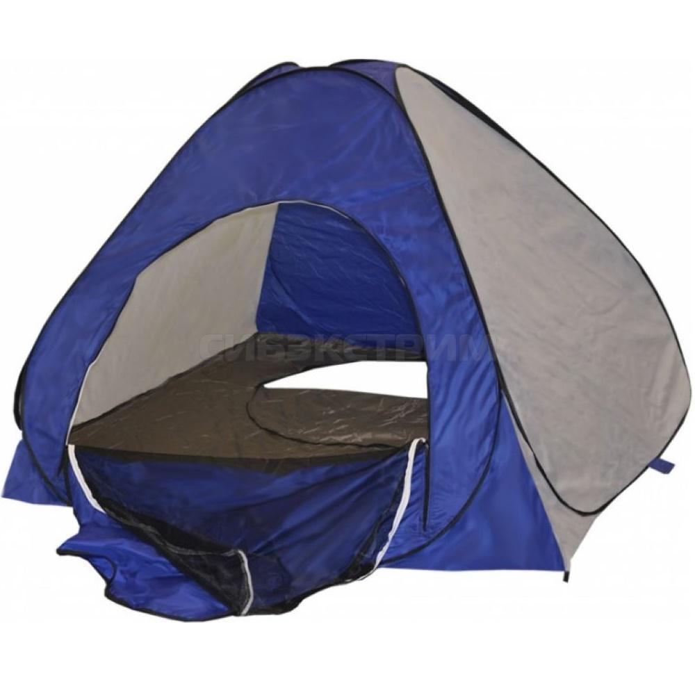 Палатка зимняя автомат PREMIER дно на молнии 1,8 х 1,8м сине-белая