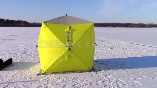 Палатка зимняя куб Сахалин 4 1800 х 1800 х 2000 мм. цвет желтый