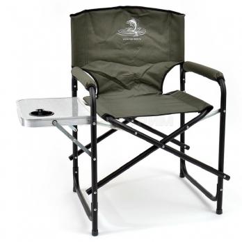 Кресло КЕДР складное со столиком с подстаканником сталь SK-07