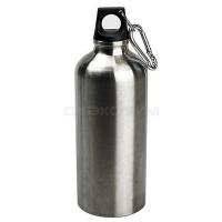 Бутылка питьевая алюминиевая 600мл, серебристый