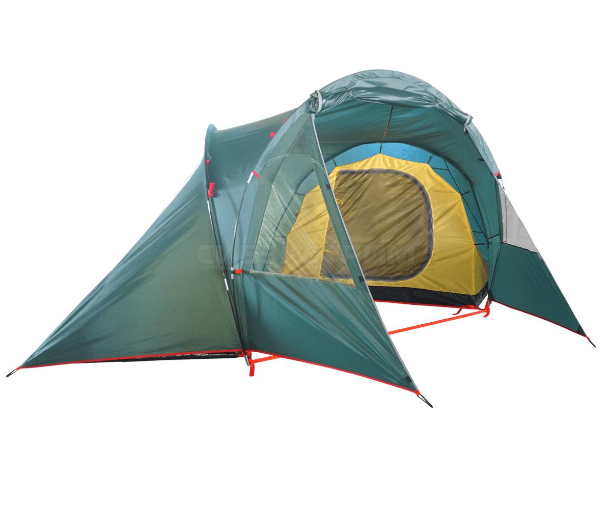 Палатка BTrace Double 4 (220 х (2 х 140) х110 х 185 см) Зеленый