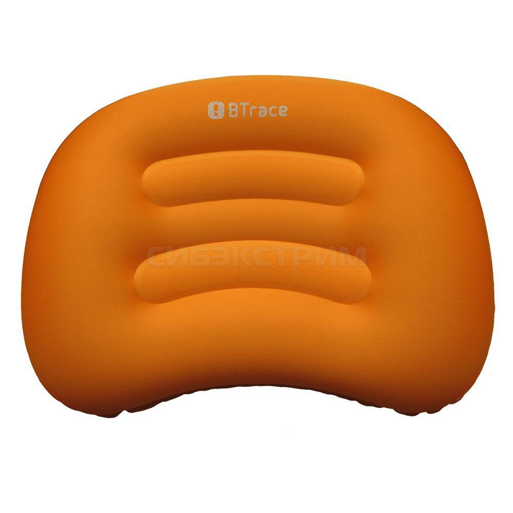 Подушка дорожная BTrace Air, 51х36х8см, оранжевый/серый