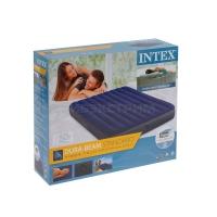 Надувной матрас Intex Classic Downy Fiber-Tech, 152х203х25см