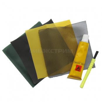 Ремкомплект для палатки (заплаты всех тканей+клей)