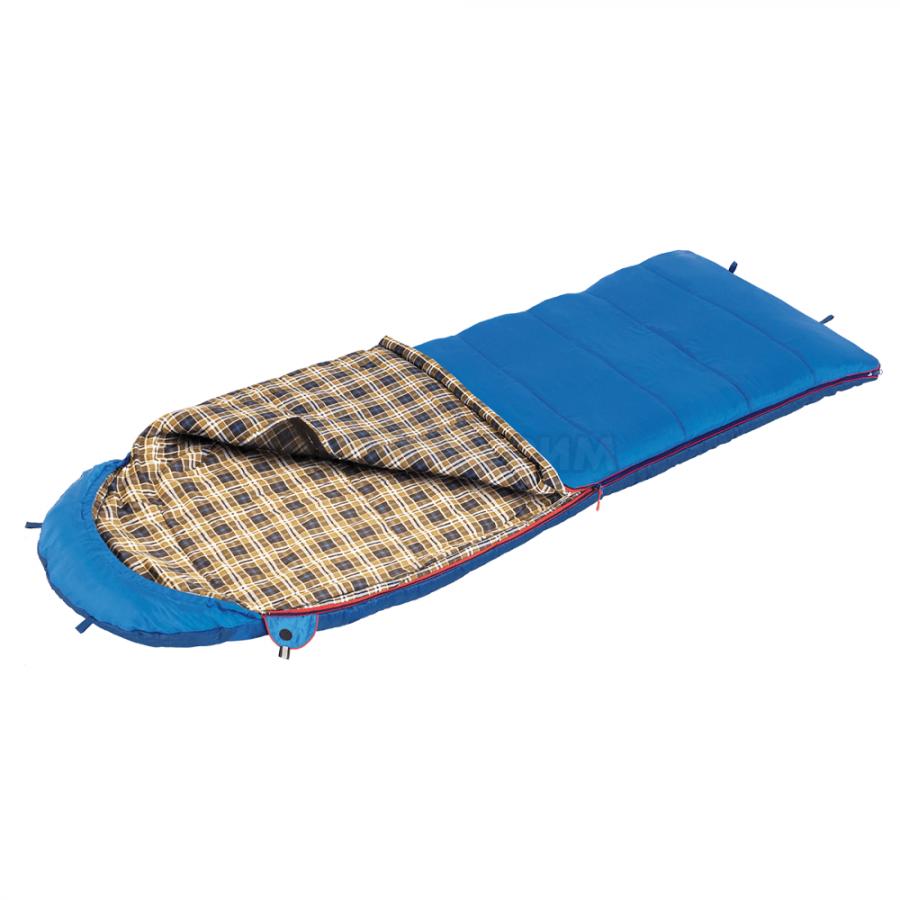 Спальный мешок BTrace Duvet одеяло 230 х 80 левая молния, синий