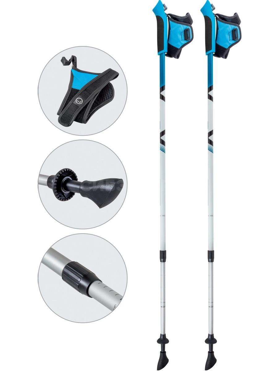 Палки для скандинавской ходьбы AQD-B017 azure