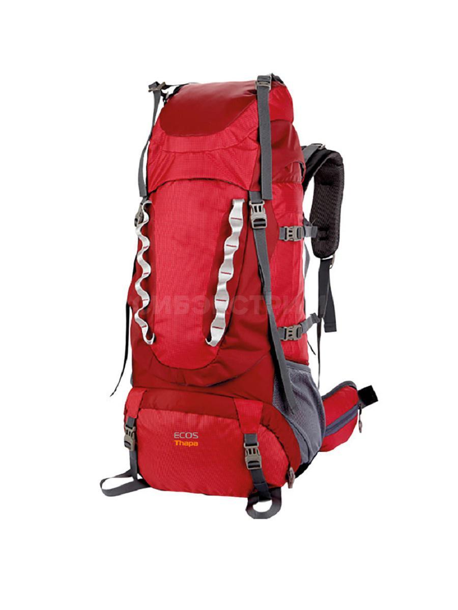 Рюкзак ECOS Thapa красный 65л