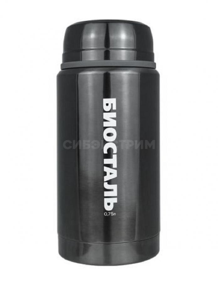 Термос Biostal NTS-750V 0,75л (широкое  горло, суповой с ложкой, ворон)